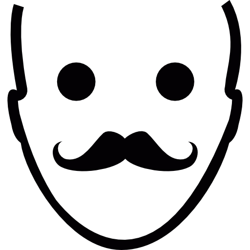 Gestures, Face, Mustache Icon