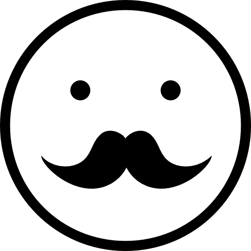 Moustache Male Face Emoticon Symbol Icons Free Download