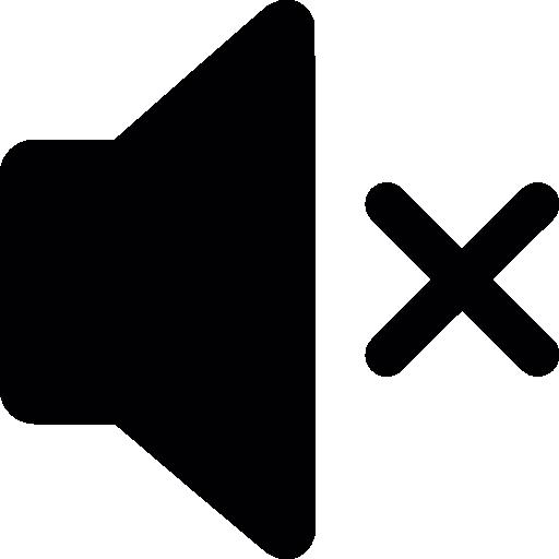 Mute Volume Interface Symbol
