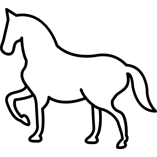 Walking Horse Outline With One Frontal Paw Lifted Icons Free