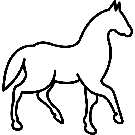 Walking Horse With One Foot Lifted Icons Free Download