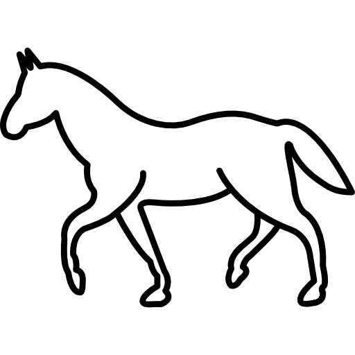 White Walking Horse Outline Icons Free Download