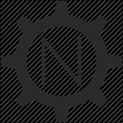 Gear, Key, Keyboard, Letter, N Icon