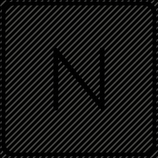 Key, Keyboard, Letter, N Icon