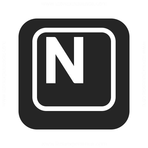 Keyboard Key N Icon Iconexperience