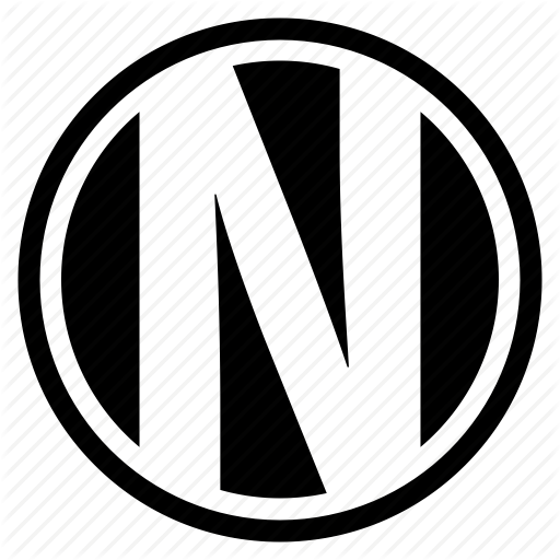 Alphabet, Character, Logo, N, Round, Social Icon