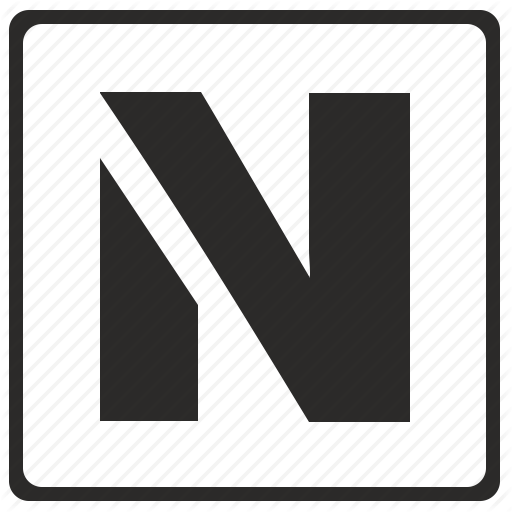 Alphabet, Latin, Letter, Modern, N Icon
