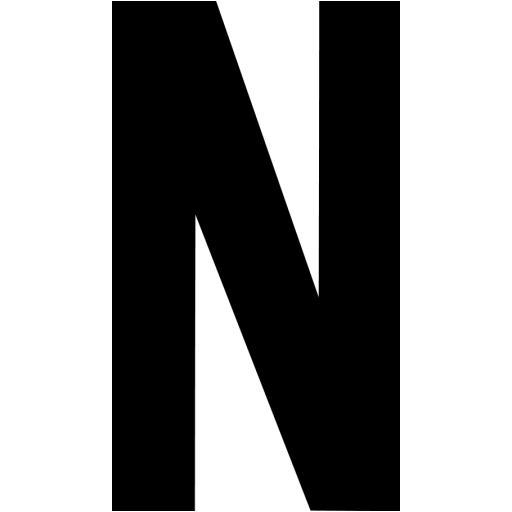 Black Letter N Icon