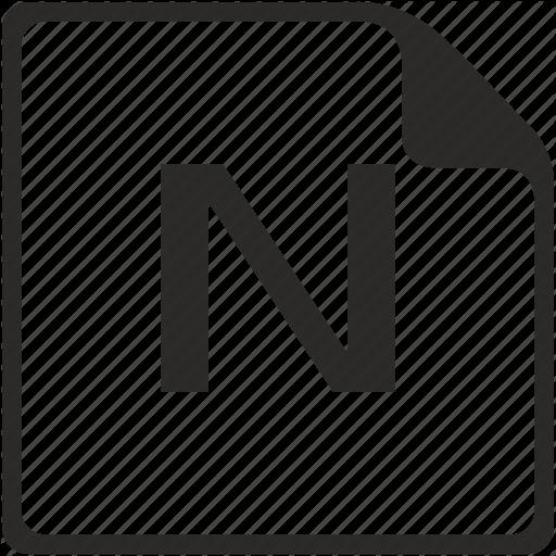 Doc, File, Key, Latin, Letter, N Icon
