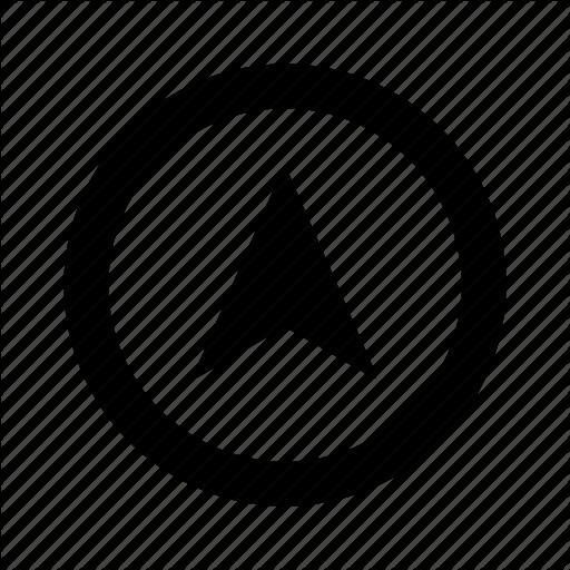 Arrow, Circle, Direction, Gps, Location, Navi, Navigation, Up Icon