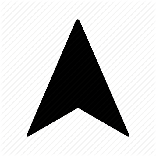 Arrow, Direction, Gps, Location, Navi, Navigation, Up Icon