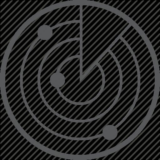 Antenna, Nearby, Network, Radar, Satellite, Technology Icon