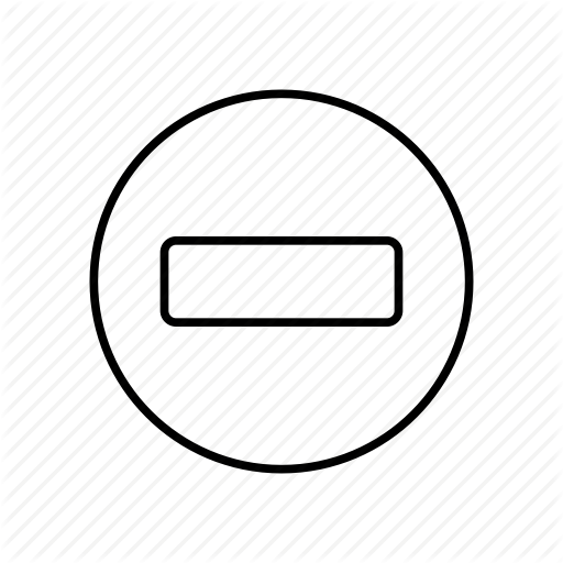 Less, Minus, Minus Sign, Minus Symbol, Negative Icon