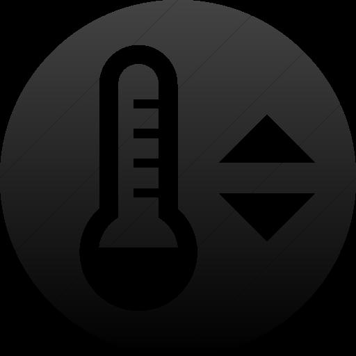 Simple Black Gradient Iconathon Thermostat Icon