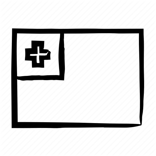 Drawn, Flag, Flags, Hand, Sketch, Tonga, Tonga Flag Icon