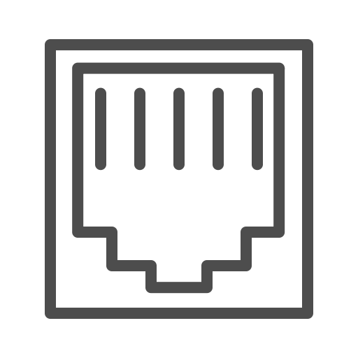 Computer Port, Line Icon, Internet, Internet Port Icon, Port