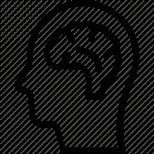 Brain, Head, Human Head, Mind, Neurology Icon