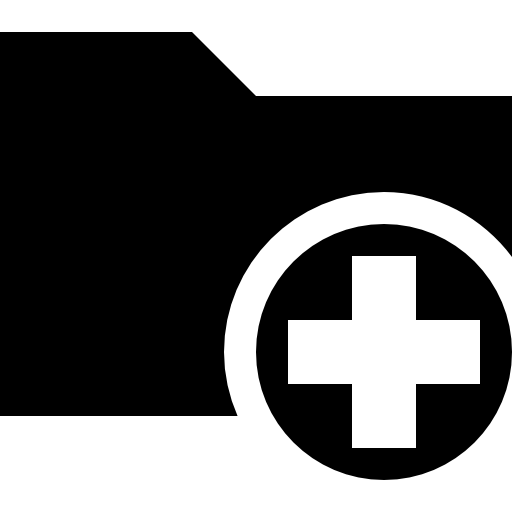 Folder Add Symbol Icons Free Download