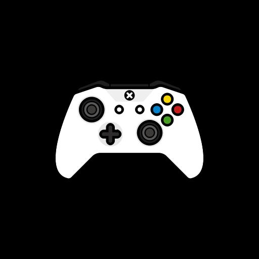 Gamer, Xbox One, New, White, Controller Icon