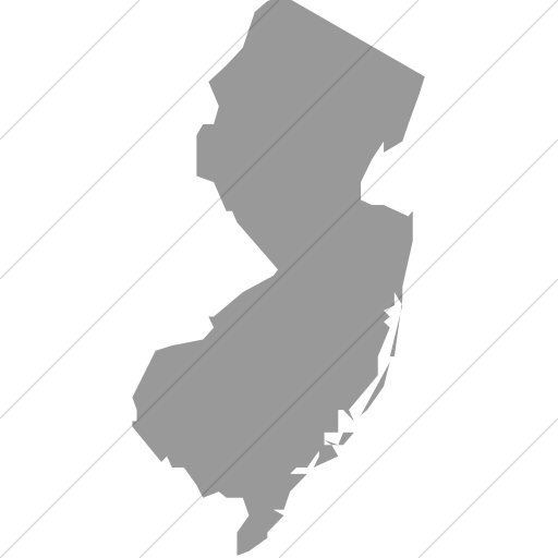 Simple Light Gray Us States New Jersey Icon