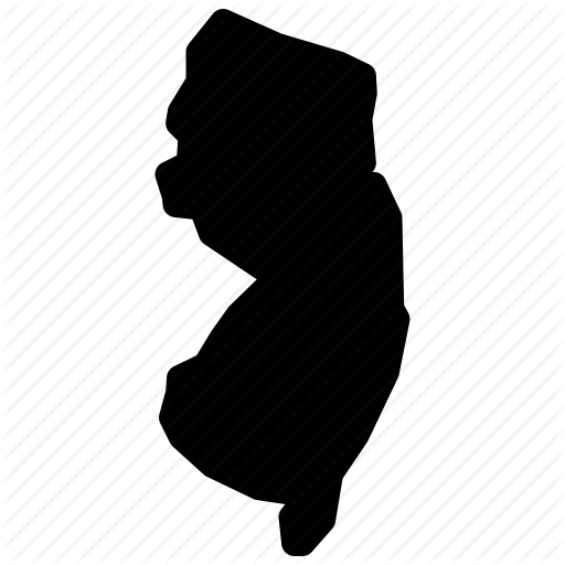 Map, New Jersey, New Jersey Map, New Jersey State, Nj Map Icon