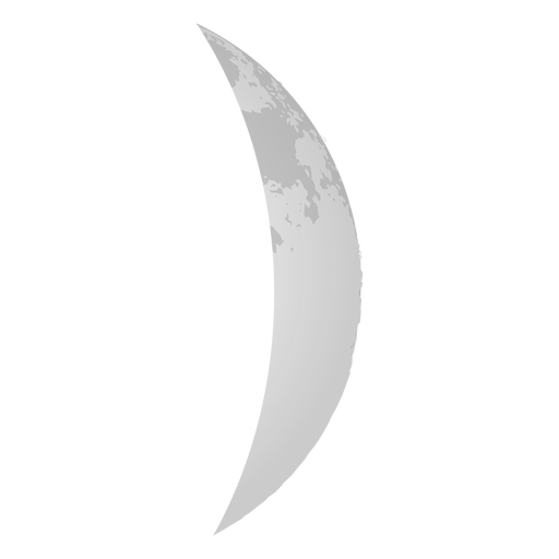 Waxing Crescent Realistic Moon Icon