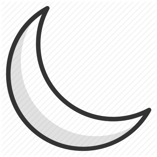 Crescent, Moon, New Moon, Planet, Sickle Moon Icon