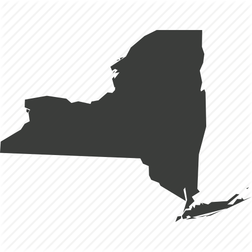 America, Location, Map, New York, State, Usa Icon