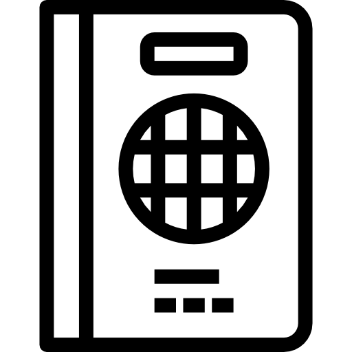 Passport, Citizenship Icon