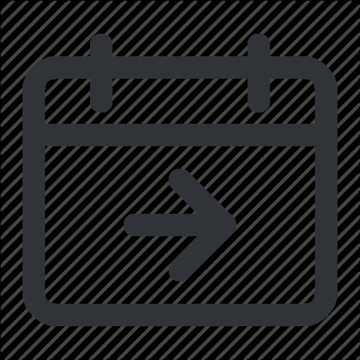 Arrow, Calendar, Date, Day, Event, Next, Plan Icon
