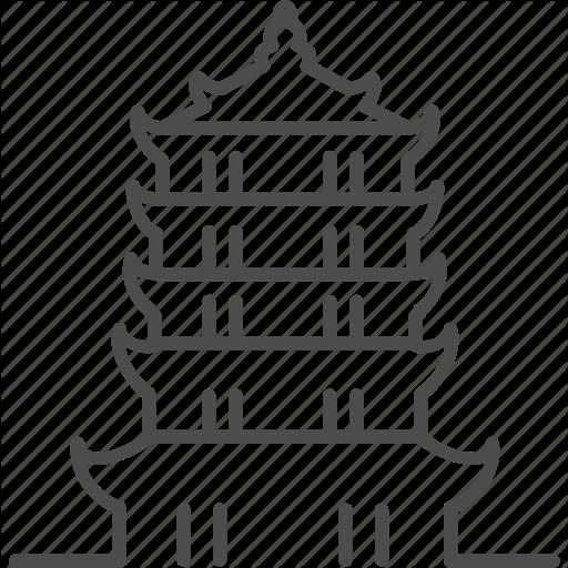 China, Chinese, House, Pagoda, Tower Icon