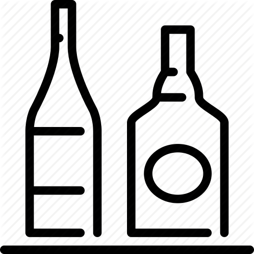 Alcohol, Bar, Bottles, Drink, Nightlife, Pub Icon