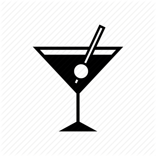 Alcohol, Cocktail, Glass, Martini, Nightlife, Party, Wine Icon