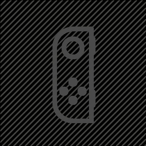 Console, Game, Joycon, Left, Nintendo, Switch Icon