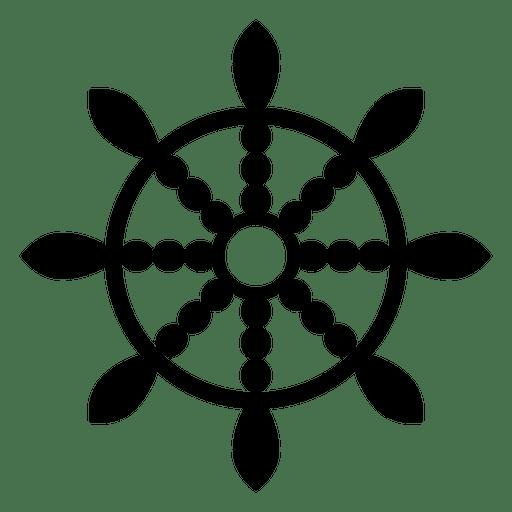 Buddhist Dharma Wheel Icon