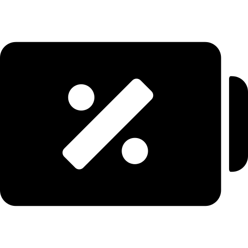 Battery Status Symbol With Percentage Sign Png Icon