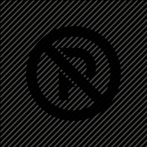 No Parking, Parking Prohibit, Sign Icon