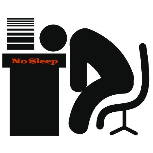 At The Desk Icon No Sleep Adventureclubinteractive