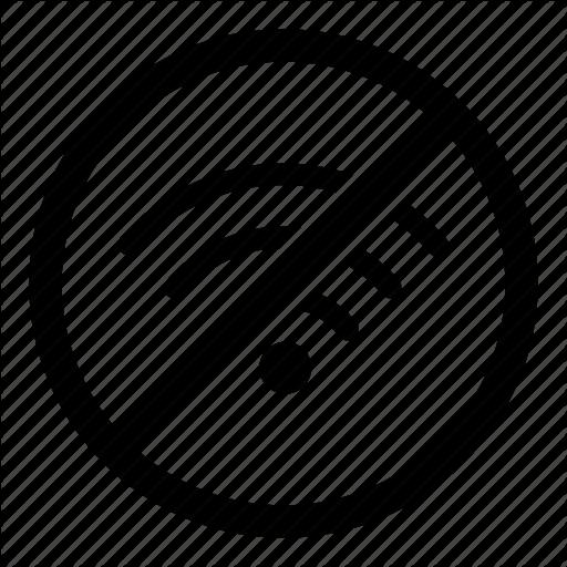 No Internet, No Signal, No Wifi, Prohibited, Wireless Icon