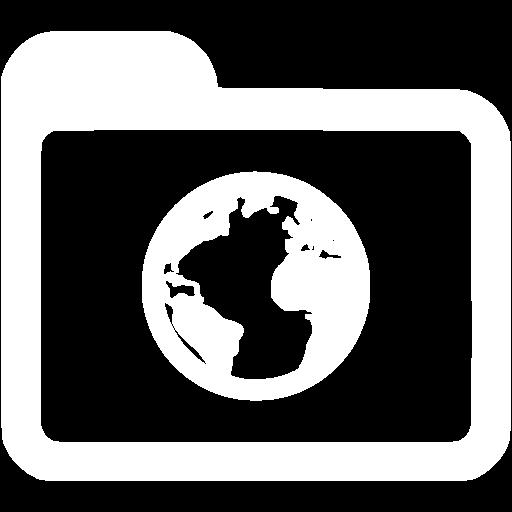 White Internet Icon