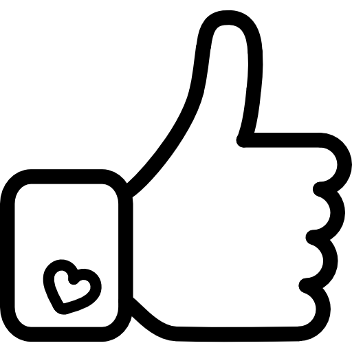 Facebook Like Hand Symbol Outline Icons Free Download