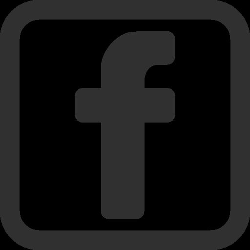 Logo Facebook Black Icon Symbol