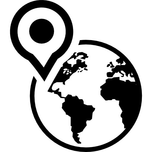 Earth Globe With A Placeholder On North America Icons Free Download