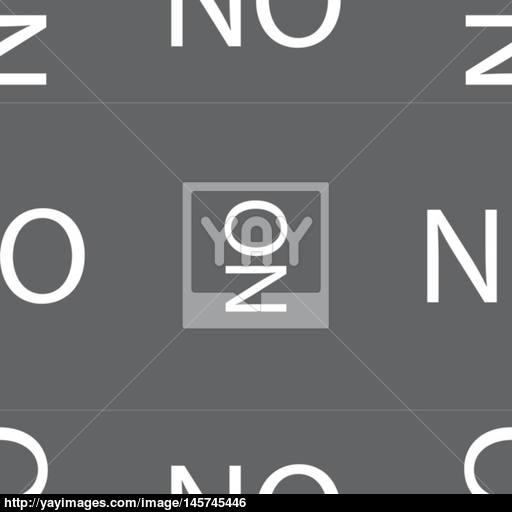 Norwegian Language Sign Icon No Norway Translation Symbol