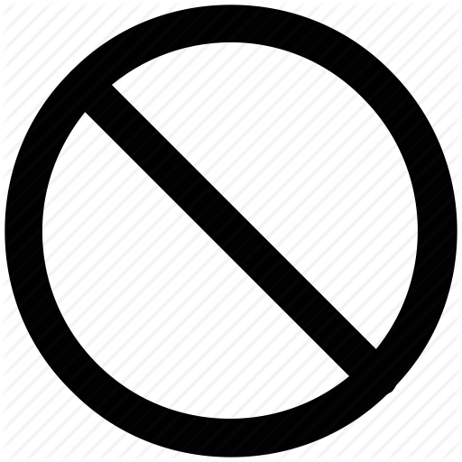 Ban Sign, Disallowed, Forbidden, Limited, Not Allowed, Prohibited