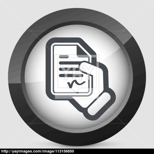 Document Signed Icon Vector