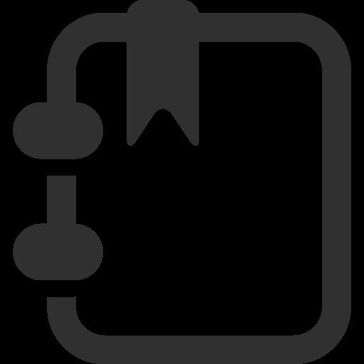Notebook Icon Mono Business Iconset Custom Icon Design