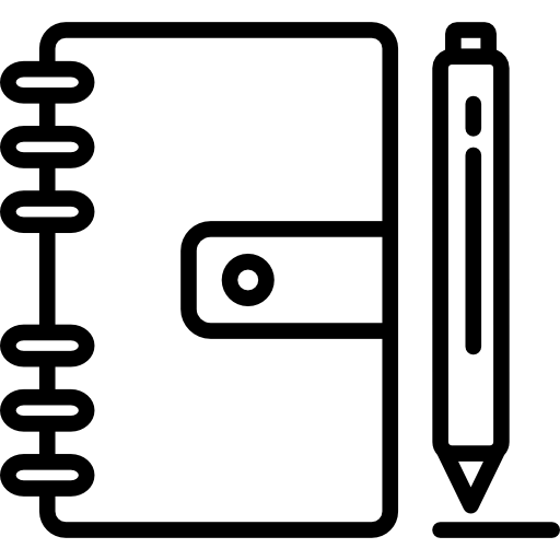 Closed Notebook And Pen