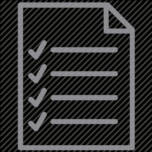 Checklist, Exam, Form, Items, Notepad, Task List, Test Icon