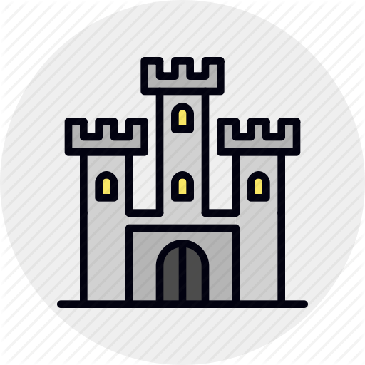 Castle, Defense, Fort, Fortress, Landmark, Medieval, Sandbox Icon
